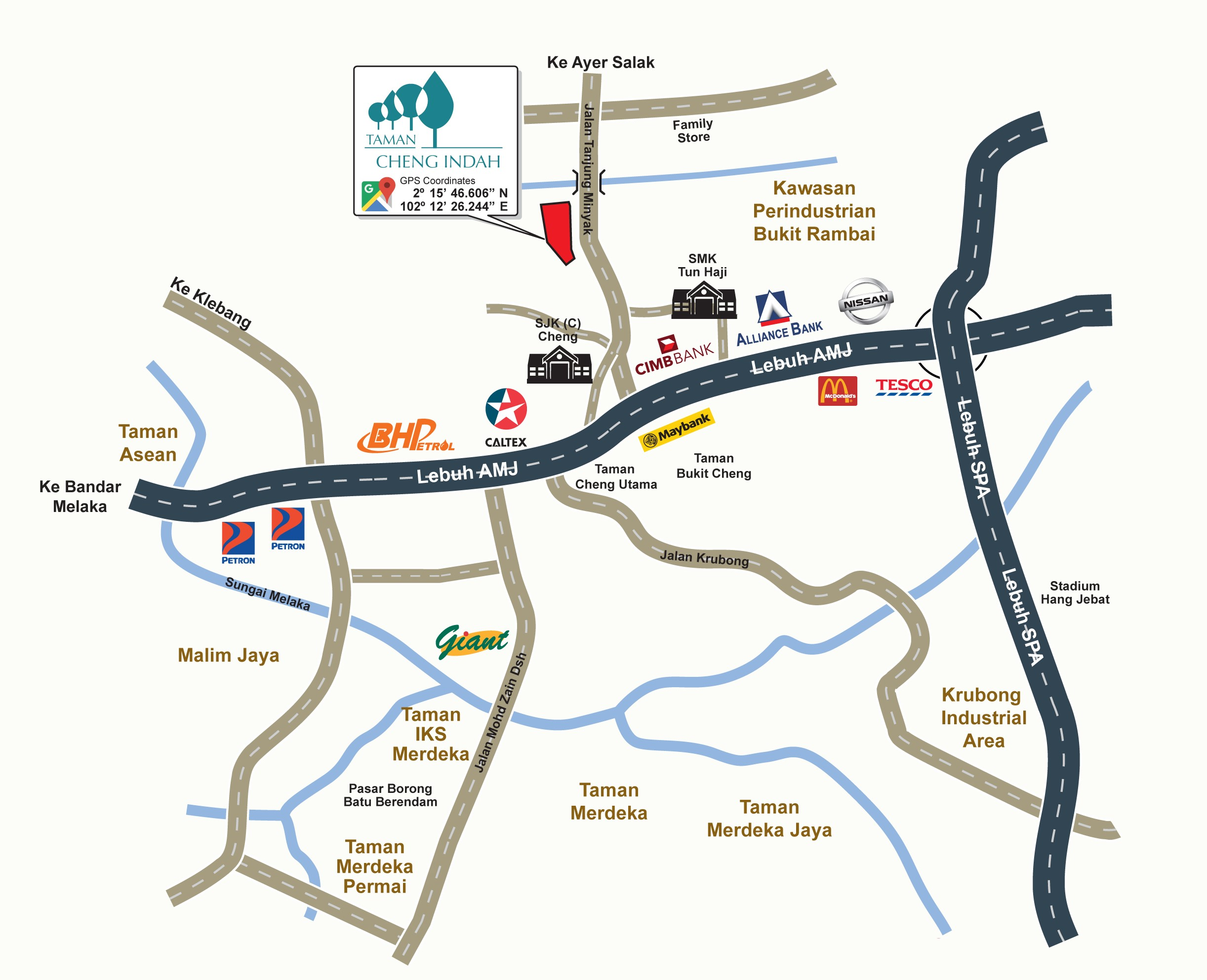 Taman-Cheng-Indah-Location-Map